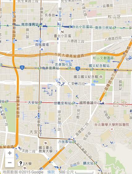 台北易淹水區 網友推「台北好好淹」簡易版地圖