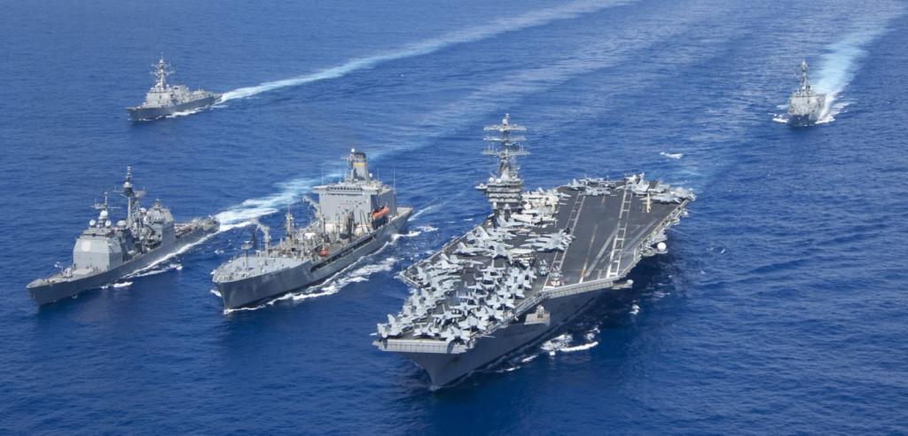 美航母結束南海任務 陸艦全程緊跟乾瞪眼