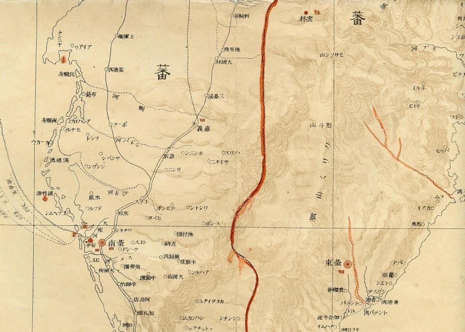 1895年(明治28年)的嘉義市在行政區等級畫分上還在台東之下。林連守提供。