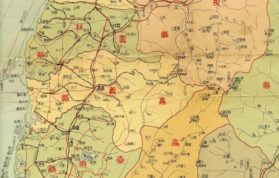 1957年,其時的嘉義市為縣轄市,隸屬於嘉義縣。林連守提供。
