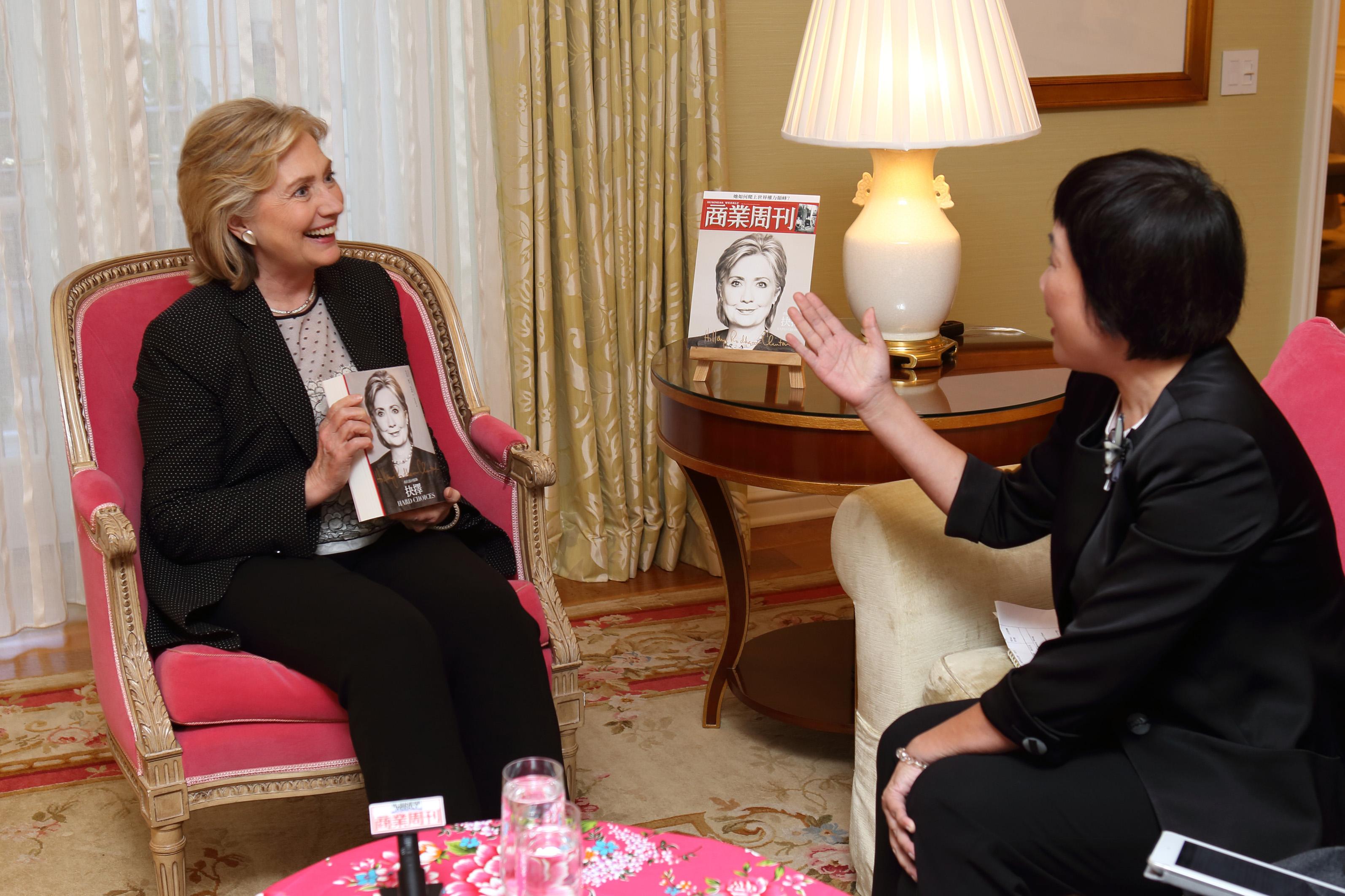 《商業周刊》專訪 希拉蕊:台灣太依賴中國,會變得脆弱